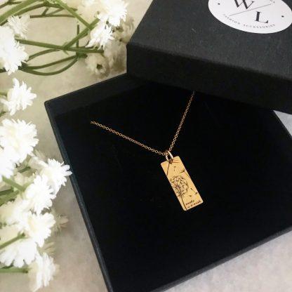 'Make A Wish' Dandelion Necklace Gold