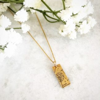 'Make A Wish' Dandelion Necklace Gold