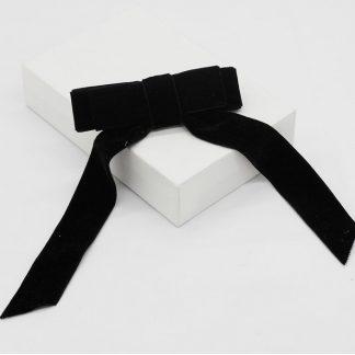 Juliet Black Velvet Hair Bow