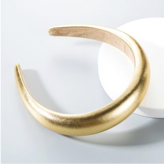 Portia Metallic Gold Padded Headband
