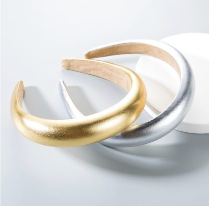 Portia Metallic Gold Padded Headband