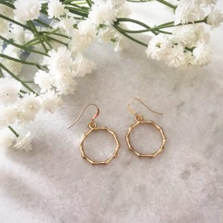 Willow Gold Wreath Drop Earrings