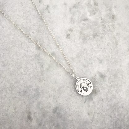 Alpine Sterling Silver Mountain Necklace