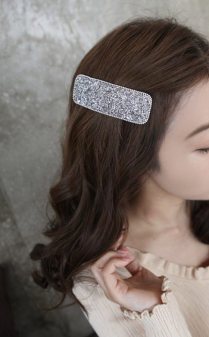 Aurora Silver Embellished Hair Clip