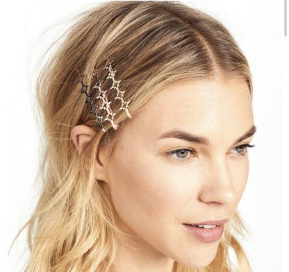 Starla Silver Star Hair Clips