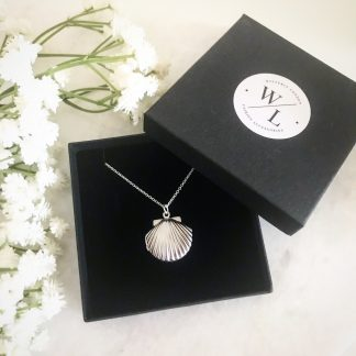Clemmie Silver Clam Shell Locket
