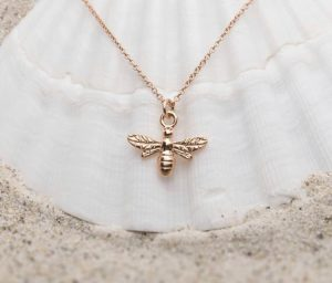 Gold Bee Necklace