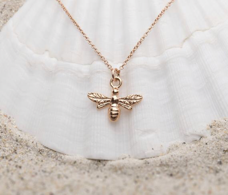 Gift Guide for the Inspiring Woman - Rose Gold Bee Necklace