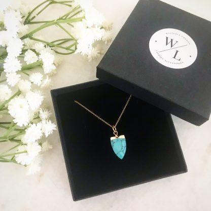 Arizona Turquoise Tooth Necklace