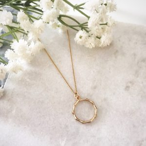10 Necklaces We are Loving Right Now -Willow Gold Wreath Necklace