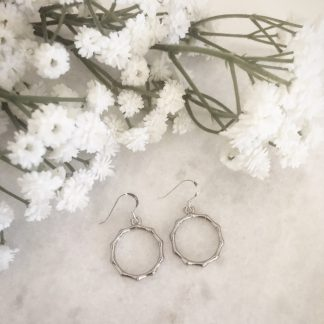 Willow Silver Wreath Drop Earrings