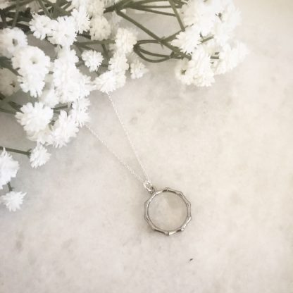 Willow Silver Wreath Necklace