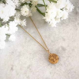 Gold Plated Globe Necklace