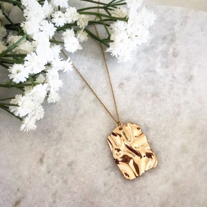 Sand Dune Gold Plated Necklace