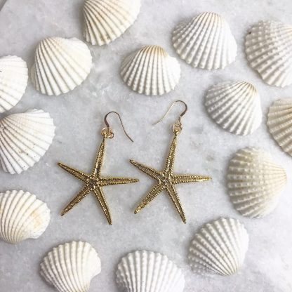 Cordelia Gold Starfish Earrings
