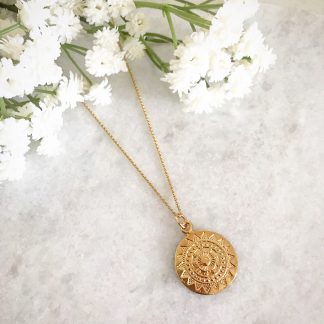 Apollo Gold Coin Necklace