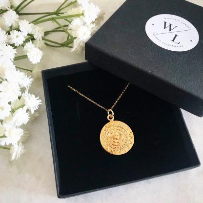 Apollo Gold Coin Necklace