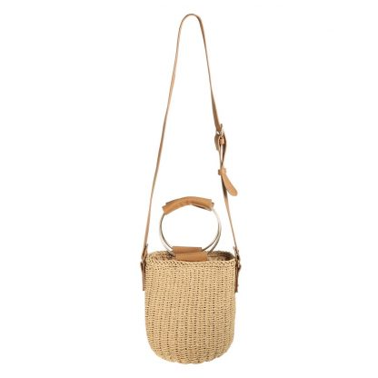 Harper Raffia Bucket Bag