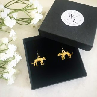Nala Gold Leopard Earrings