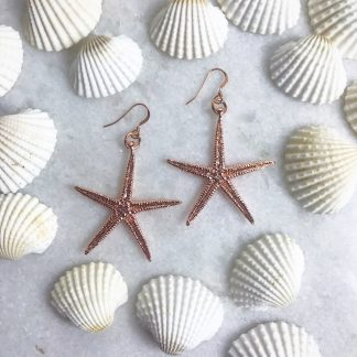 Cordelia Rose Gold Starfish Earrings
