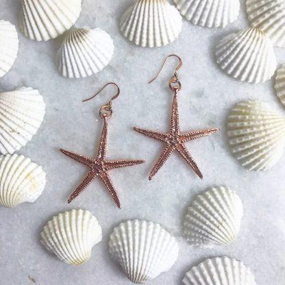 Cordelia Rose Gold Starfish Earrings