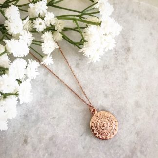 Apollo Rose Gold Coin Necklace