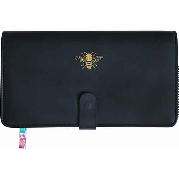 Sky + Miller Black Bee Travel Wallet