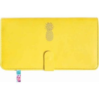 Sky + Miller Yellow Pineapple Travel Wallet