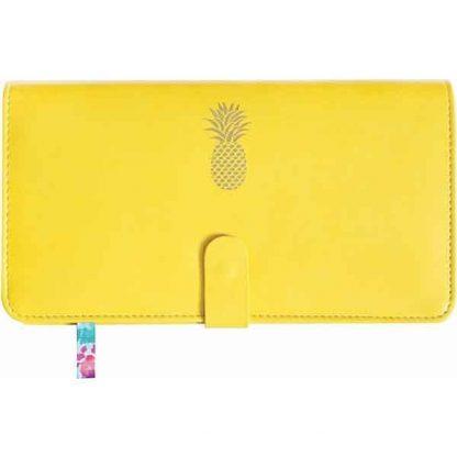 Sky + Miller Yellow Pineapple Travel Wallet