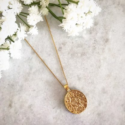 Anthea Gold Coin Necklace