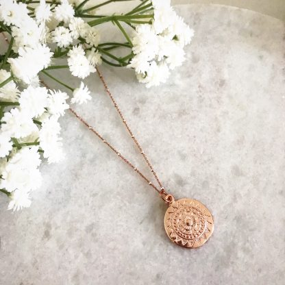 Apollo Rose Gold Coin Bobble Chain