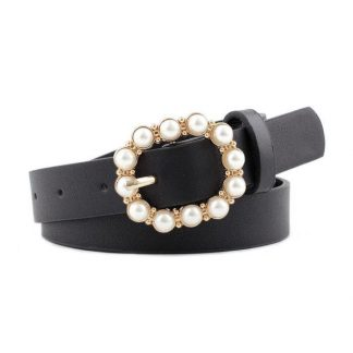 Black Pearl Buckle Belt