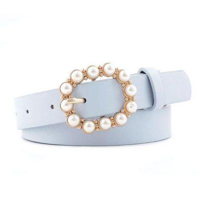 Blue Pearl Buckle Belt
