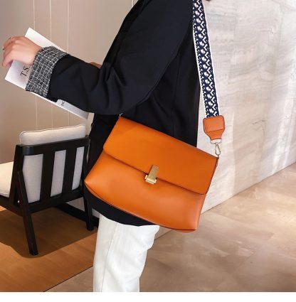 Clara Orange Shoulder Bag