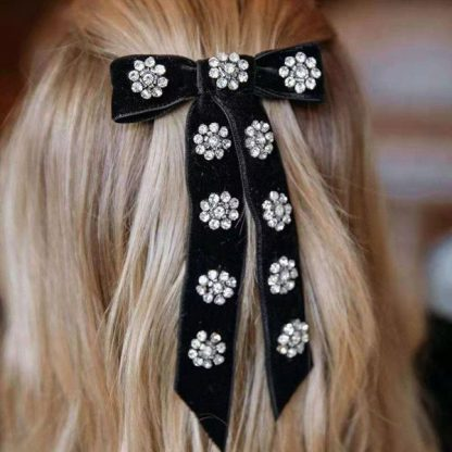 Beatrice Embellished Flower Bow Hair Clip
