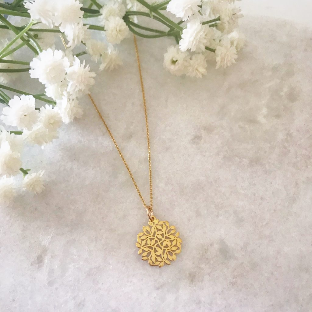 Say it with Flowers this Mother's Day - Entwined Gold Leaf Necklace
