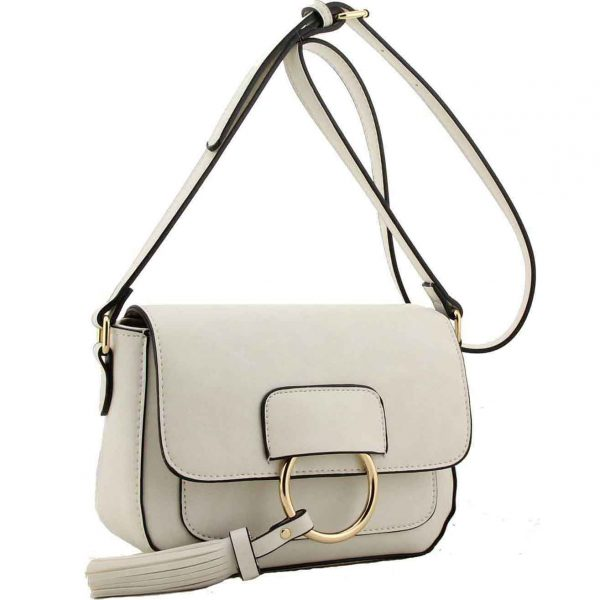Fitzrovia White Cross Body Bag