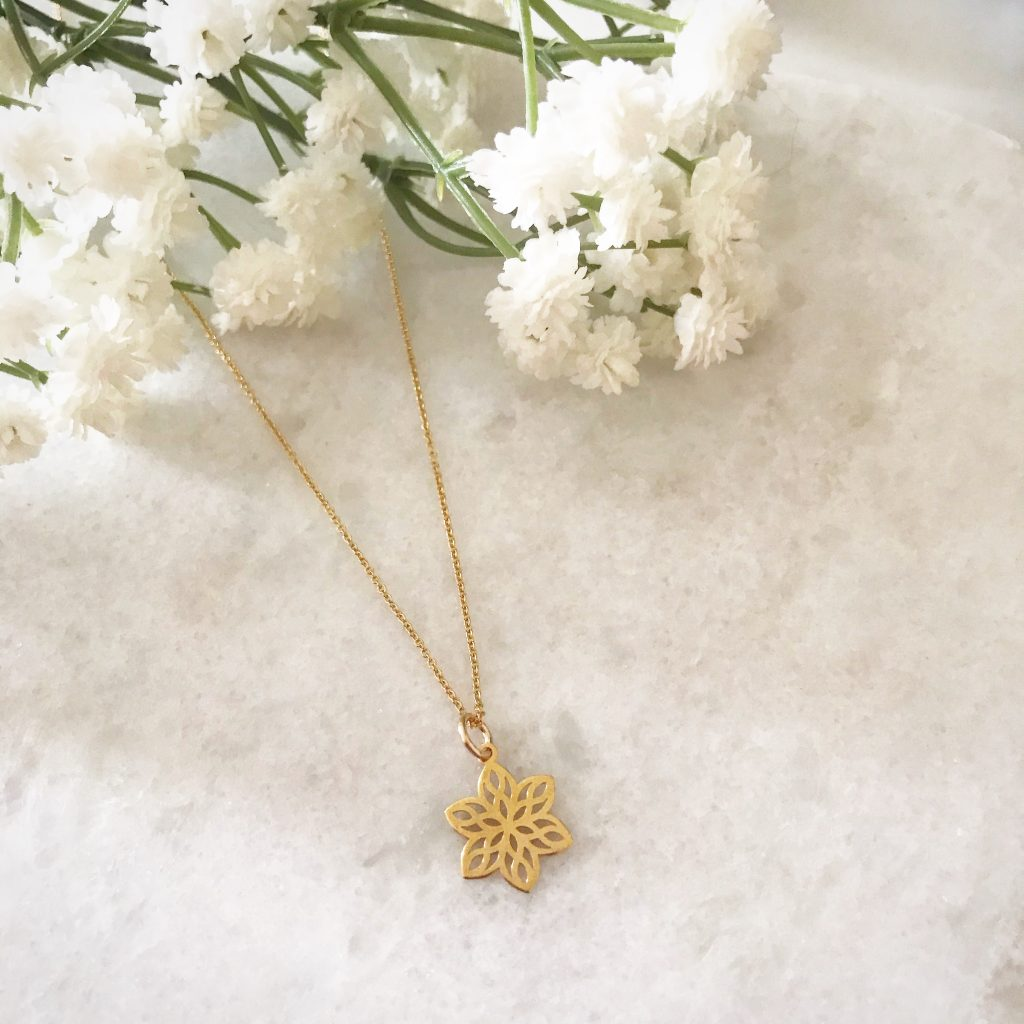 Say it with Flowers this Monther's Day - Aurelia Blossom Flower Necklace Gold