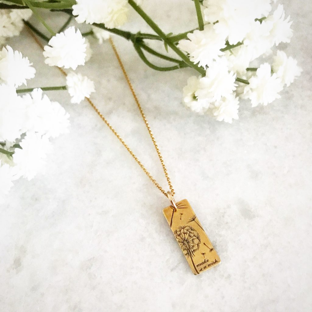 Say it with Flowers this Mother's Day - Make a Wish Dandelion Necklace Gold