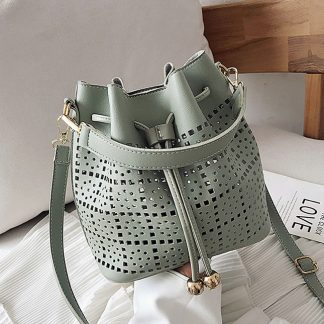 Josephine Green Bucket Bag