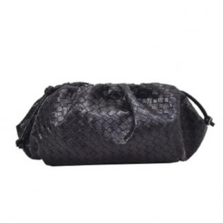 Henrietta Black Pouch Clutch Bag