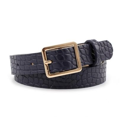 Croc Textured Navy Belt