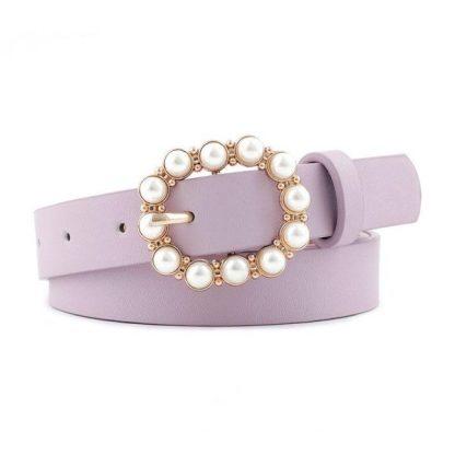 Purple Pearl Buckle Belt
