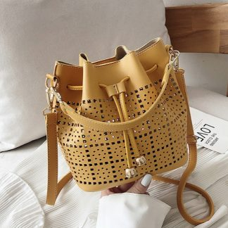Josephine Yellow Bucket Bag