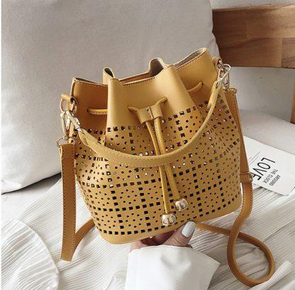 Josephine Yellow Bucket Bag