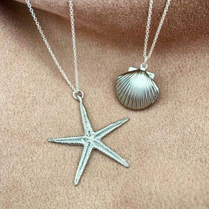 Cordelia Silver Starfish Earrings