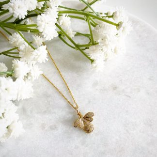 Queen Bee CZ Necklace Gold
