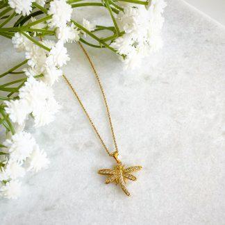 God Dragonfly CZ Necklace