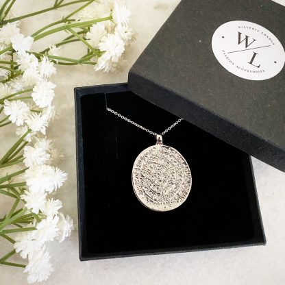Cassia Large Silver Coin Necklace