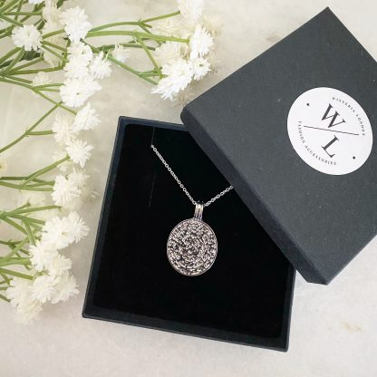 Anthea Silver Coin Necklace